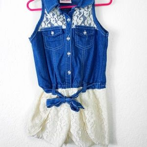 Other - Little girls Denim and Lace Romper